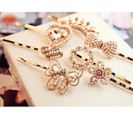 Pearl Diamond Flower Bowknot Heart shape Hairpin Random Delivery