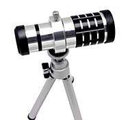 Aluminum Alloy 16X Telephoto Zoom Lens Set for SAMSUNG S3 - Silver
