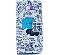 Okay Letter Pattern PU Leather Full Body Case with Stand for iPhone 4/4S