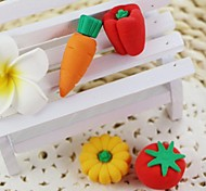 Cute Detachable Pumpkin + Carrot + Tomato + Pepper Shaped Eraser (Random Color x 4 PCS)