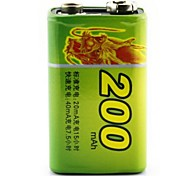 HAOBA 9V 200mAh Rechargeable Ni-MH Battery