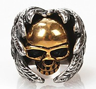 Z&X®  Men's FashionWings Skulls Titanium Steel Ring