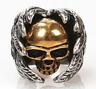 z&X® fashionwings teschi anello in acciaio al titanio uomini