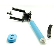 Bluetooth Remote Self-timer Stainless Steel Handheld Monopod with Holder Adapter for Smart Phone
