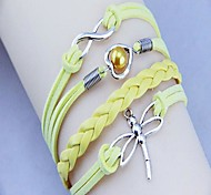 Women's Occident  Dragonfly Heart  HandWoven Bracelet