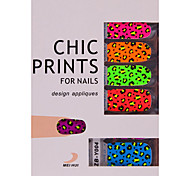 YeManNvYou®14PCS Colorful Candy Leopard Print Nail Art Stickers Decals Environmental Pregnant