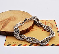 Fashion Silver Multilayer Stainless Steel Cable Chain Bracelets