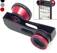 Quick Change 3 in 1 Wide Angle Lens, Macro Lens and 180 Fish Eye Lens Kit Set for iPhone 5/5 (Assorted Color)
