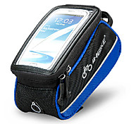 INBIKE 4.8 Inch Polyester and EVA Black and Blue Bicycle Front Bag with Transparent PVC Touchable Mobile Phone Screen