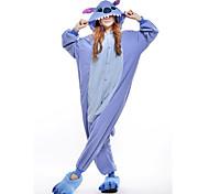 New Cosplay Blue Stitch Polar Fleece Adult Kigurumi Pajama