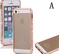 Luxury Crystal Rhinestone Diamond Bling Metal Aluminium Alloy Bumper Case for iPhone 5/5S