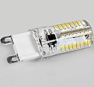 Bombillas LED de Mazorca G9 3W 64 SMD 3014 250 LM Blanco Cálido AC 100-240 V