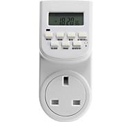 "TE-K26 1.5"" Screen Digital Programmable Timing Switch Socket(UK Plug / AC 220~240V)"