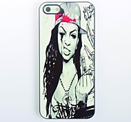 Hardcore Design Girl Pattern Metal Hard Case for iPhone 5