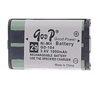 """3.6V """"1000mAh"""" Rechargeable Cordless Phone batterie de remplacement"""