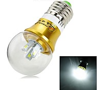 ZHISHUNJIA E27 3W  6x 5630SMD280lm 6000K White Light LED Lamp Globe Bulb (AC 85~265V)