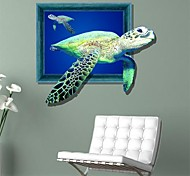 Sea 3D Tortugas pegatinas de pared Tatuajes de pared
