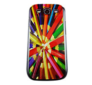 Beautiful Pencil Pattern PC Back Case for Samsung S3/I9300