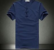 Lazer gola redonda Pure T-shirt dos homens de cores com mangas curtas