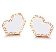 Fashion High-grade Titanium Plating Steel Stud Earrings