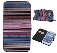 Cotton Fabrics Full Body Case with Stand and Card Slot for Samsung Galaxy Grand Duos I9082(Assorted Colors)