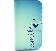 Smile Butterfly Design PU Leather Full Body Case with Stand for Samsung Galaxy S3 Mini I8190