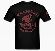 Fairy Tail Natsu Dragneel Black Cotton Cosplay T-Shirt