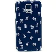 Indische Elefanten Muster harte Fallabdeckung für Samsung Galaxy i9600 s5
