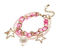 Vintage Pearl Star Shape Charm Bracelets(1 Pc)