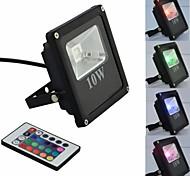 LED 10W Novo Modelo de Slim Projector ao ar livre RGB AC85-265V em preto com controle remoto IR
