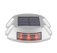 Solar Power Outdoor Road Driveway Dock Path Step Light Lamp Red-Lighting with 6 LED