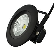 LED 1pcs 10W New Model Round Outdoor White Floodlight AC85-265V in Black