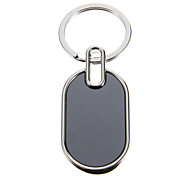 Oval Photo-attachable Key Ring