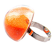 Pilzform Bunte Sand Glass-Band-Ring (12 Stück pro Packung)