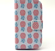For Samsung Galaxy Case Wallet / Card Holder / with Stand / Flip / Pattern Case Full Body Case Fruit PU Leather Samsung S3 Mini