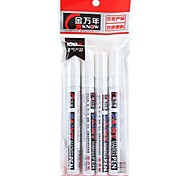 Black Paper White Ink Marker Highlighter PAINT Pen (White,4-Pack)