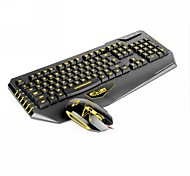 Dare-u 3 LED Colors USB Wired Gaming Mouse Keyboard Combo Set