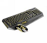 dare-u 3 colores llevó usb con cable ratón para juegos set combo teclado