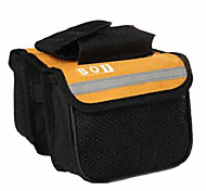 BOI 600D Polyeste Yellow Waterproof Wearable Cycling Frame Bag with Reflective Stripe