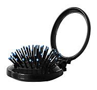 Mini Round Folding Portable Small Mirror With Comb