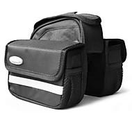 VSHENG Black Bike Frame Bag Front Tube Bag with Rain Cover