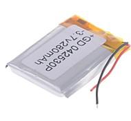 3.7V 280mAh de litio polímero de litio para teléfonos móviles MP3 MP4 (4 * 25 * 30)