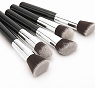 5 Pcs Synthetic Kabuki Brush Makeup Brush Face Powder Foundation makeup Tool Cosmetic Brush