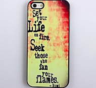 Set Your Life On Fire Design Aluminum Hard Case for iPhone 4/4S
