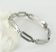 in acciaio inox argento 316l bracciali a catena ovale uomini di modo e semplice