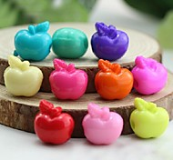 Z&X®  DIY Beads Material Colored Apple Shaped Beads 50 PCS(Random Color, Pattern)