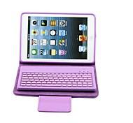 soporte de la cubierta de cuero caso w / teclado bluetooth para el mini iPad 2 Mini iPad