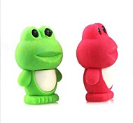 Cute Detachable Frog Shaped Eraser (Random Color x 2 PCS)