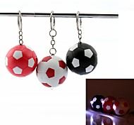 Football Style LED Mini White Flashlight Keychain - 1Pcs(3 x AG3)