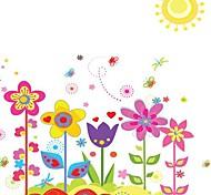 Doudouwo ® Florals красочный Наклейки Сад Стена